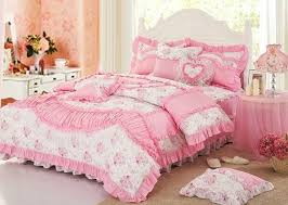 pink bedroom sets for girls.  Girls Pink Bedroom Sets For Girls With White  Lace Princess Bowtie Ruffled Bedding  Intended