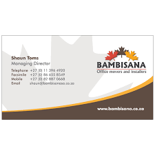 Office Visiting Card Bambisana Office Movers Business Card Design Kangaroo Digital