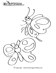 Butterflies Coloring Page - A Free Nature Coloring Printable