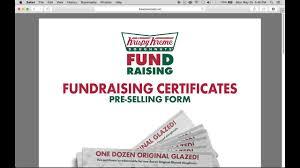 Krispy Kreme Fundraiser Profit Chart 2019 Fill In A Krispy Kreme Fundraising Gift Certificate Form