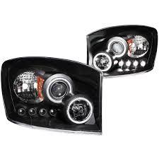 Halo Lights For 2006 Dodge Ram Anzo 111104 Anzo Usa Dodge Ram 2500 Projector Headlights W Halo Black Ccfl 2006 2009