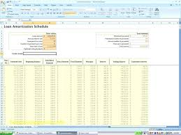 Loan Amortization Template Excel Amortization Schedule Excel
