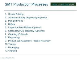 Pcb Assembly Process Flow Chart Ppt Www Bedowntowndaytona Com