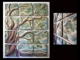 ceramic tile art tree. Interesting Tree Tree Of Life Handmade Ceramic Wall Tile Mural By Natalie Blake Studios   Throughout Ceramic Tile Art S