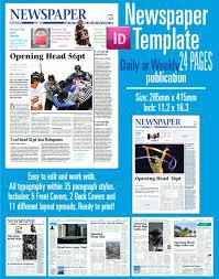 Newspaper Template For Photoshop Newspaper Template Adobe Photoshop Design Word Preinsta Co