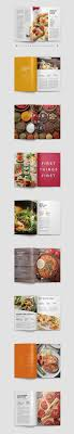 love the image treatments and pairings with colors and fonts modern cookbook indesign template by prixel creative on creative market