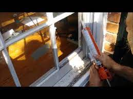 replace a broken window pane on a wood