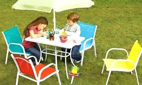 imposing plastic table and chairs for garden asda