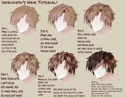 Hair Style Anime hair tutorial by shibuidesu on deviantart 5763 by wearticles.com