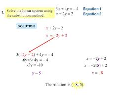 2 solve the linear system