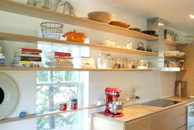 open wood shelf light wood open shelves with books and storage jars in the large kitchen open wood shelf