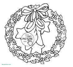 Simple Wreath Coloring Page Printable Coloring Page For Kids