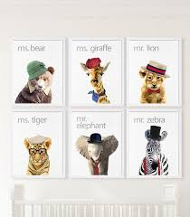 baby zoo animals nursery.  Nursery Zoo Animals Nursery Decor Safari Art Baby By CocoAndJames Throughout