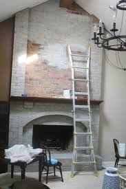 Gray Brick Fireplace Use Her Recipe Of 1 2 Water 1 4 White 1 4 Beige To Give It A Tan