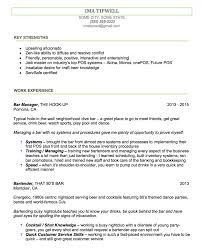 Job Description Of A Bartender For Resume Resumes Head Bartender Resume Objective Responsibilitiesle 46