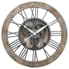wall clocks for bathrooms rustic wall clocks from bed bath beyond in clock decor bathroom
