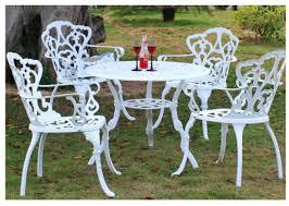 white cast 3 piece bistro outdoor patio
