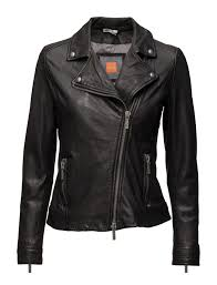 wilsons leather womens polished classic leather cycle jacket at women s coats distressed leather jacket