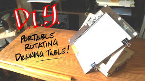 diy portable rotating drawing table