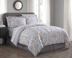 8 piece meadowshire gold gray comforter set