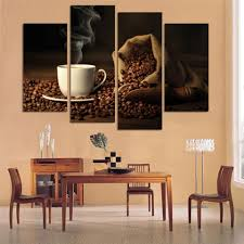 canvas print art 4 panel hd printed canvas painting coffee wall art pictures for living room kitchen modern home decor art f0662 in painting calligraphy  on wall art ideas for kitchen with canvas print art 4 panel hd printed canvas painting coffee wall art