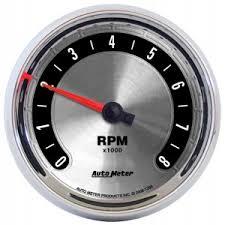 tachometers gauges car truck parts auto meter 1298 3 3 8 a m tachometer 8000rpm