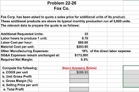 Quote Price Solved Problem 100100 Fox Co Fox Corp Has Been Asked To 58