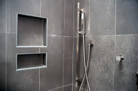 grey tiles ceramic shower niche ideas