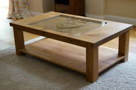carved oak coffee table