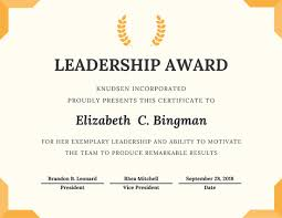 award certificates template trophy leadership award certificate templates by canva