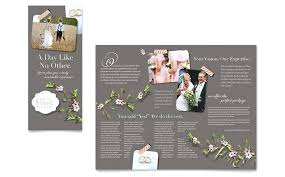 Flyer Template For Pages Wedding Planner Brochure Template Design Illustrator Word