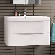 modern white bathroom cabinets. get off now on modern white vanity unit ceramic sink wall hung bathroom storage furniture cabinets t