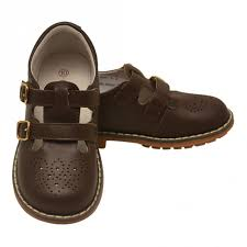l amour girls brown double t strap buckled stitch down leather shoes 11 2 kids sophia s style