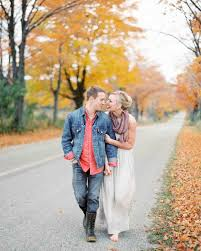 27 sweet ideas for fall engagement photos martha stewart weddings