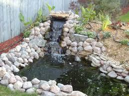 garden pond waterfall design