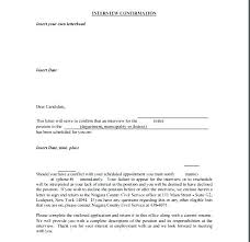 How To Confirm An Interview Cover Letter For Interview Thank You Template Job Best Of