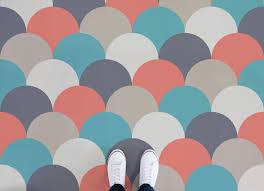 sherbet scales pattern vinyl flooring multicolour feet vinyl