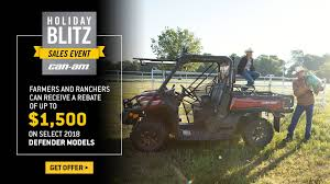 can am holiday blitz s event defender models