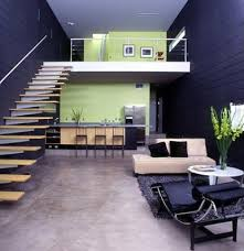 ... Stairs Small House Design Ideas Wooden Brown Floor Decoration Black  Flower Formidable Motive ...
