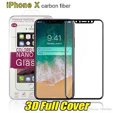 for iphone 8 plus iphone x 3d full cover color tempered glass soft edge screen protector for iphone 8 7plus with box package screen protector cell phone