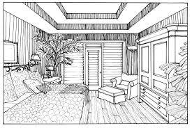interior design bedroom sketches. Unbelievable Interior Design Bedroom Sketches One Point Perspective Interior Design Bedroom Sketches H