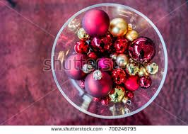 Red Decorative Balls For Bowls Christmas Decoration Ball Red Gold Color Stock Photo 100 36