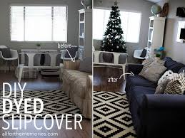 couch slipcovers before and after. Contemporary Couch How To Dye A Sofa Slipcover And Couch Slipcovers Before After