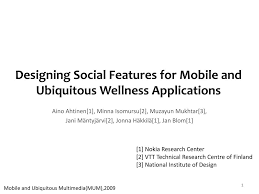 Designing Social Research Ppt Designing Social Features For Mobile And Ubiquitous