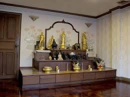 Thai Wallpaper And Fabric Buddha Room