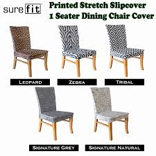 printed stretch slipcover 1 seater dining chair covers choose your design by surefit