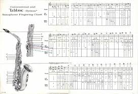 Saxophone Fingering Chart Fingering Chart For Leblanc System Conventional Saxophones The 15