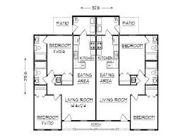 Duplex House Plans With 2 Car Garage  Homes ZoneFloor Plans For Duplexes
