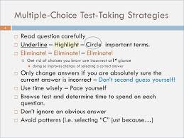 multiple test multiple choice test taking tips powerpoint sajtovi us