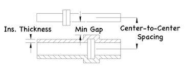Pipe Spacing Chart Metric Pipe Rack Line Spacing